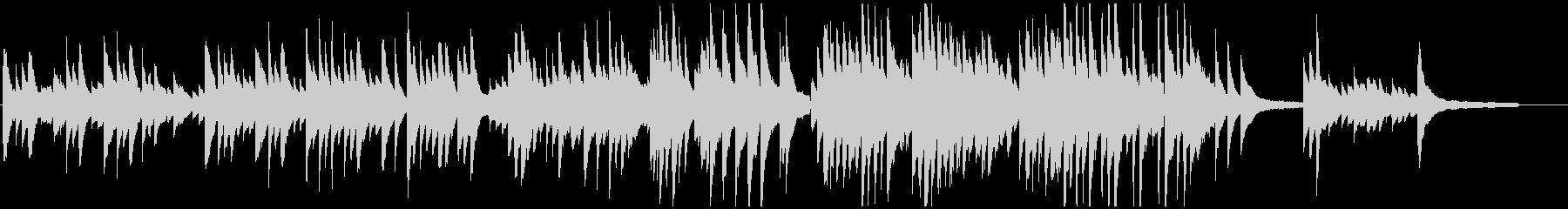 【ピアノソロ】ウエディング・思い出・感動の未再生の波形