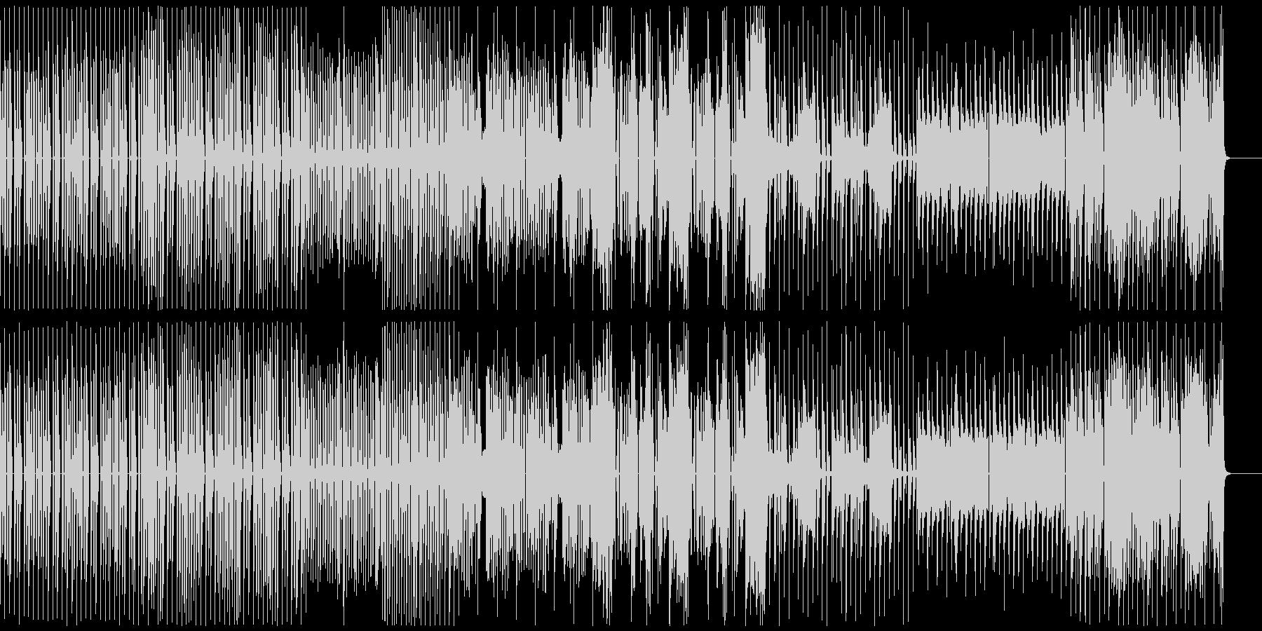 力強くダークなダンスミュージックBGMの未再生の波形