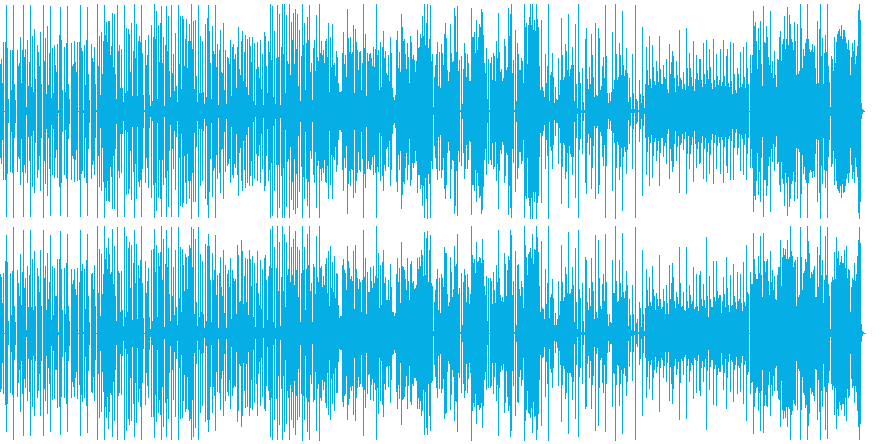 力強くダークなダンスミュージックBGMの再生済みの波形