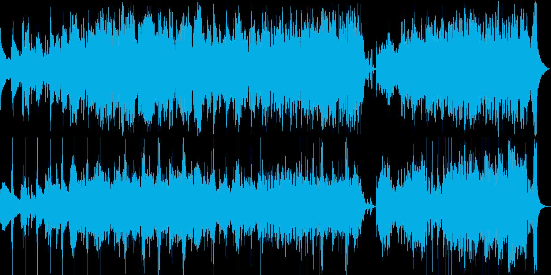 躍動感のあるダブルジグの再生済みの波形