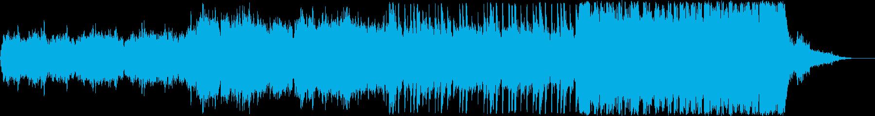 宇宙的で壮大な曲の再生済みの波形