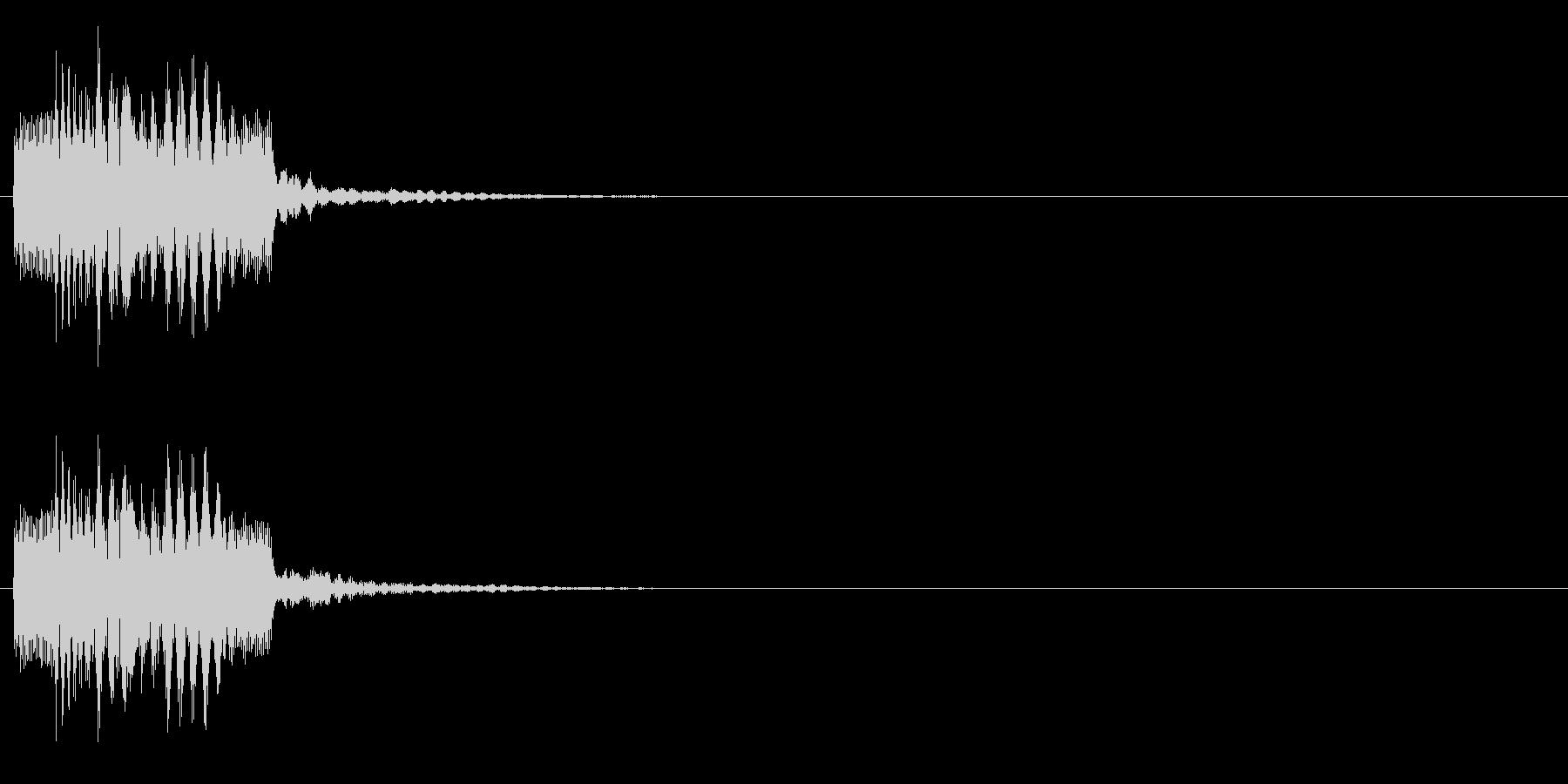 ティロリンの未再生の波形