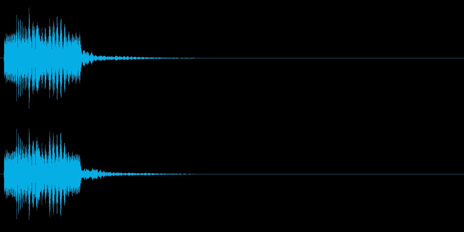 ティロリンの再生済みの波形
