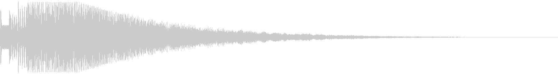 決定タッチボタン・キラキラ・ピュリンの未再生の波形