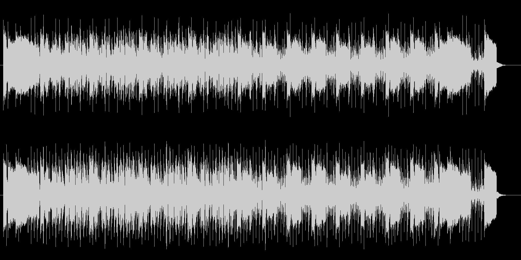 軽快でリズミカルなエレキテクノサウンドの未再生の波形