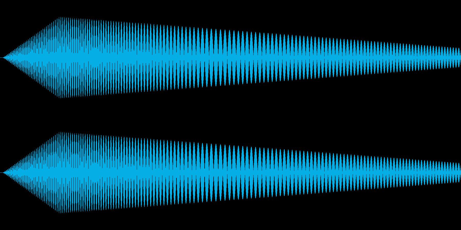【コミカル】肉球・足音・スタンプ2の再生済みの波形