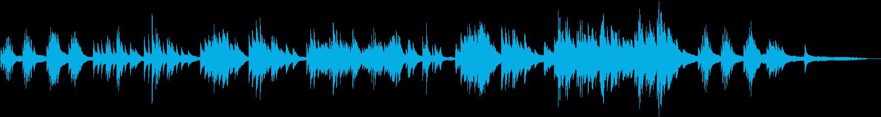 童謡「海」の優しいピアノアレンジの再生済みの波形