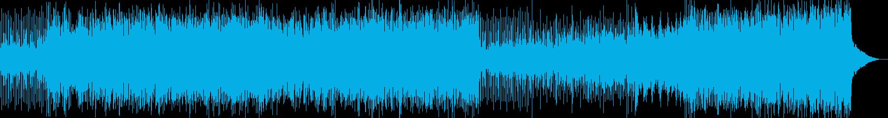 エレクトロ音風の疾走・逃走・緊迫の早い曲の再生済みの波形