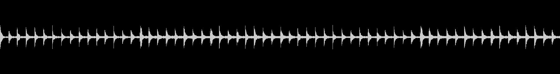 恐怖をあおるシロフォンの未再生の波形