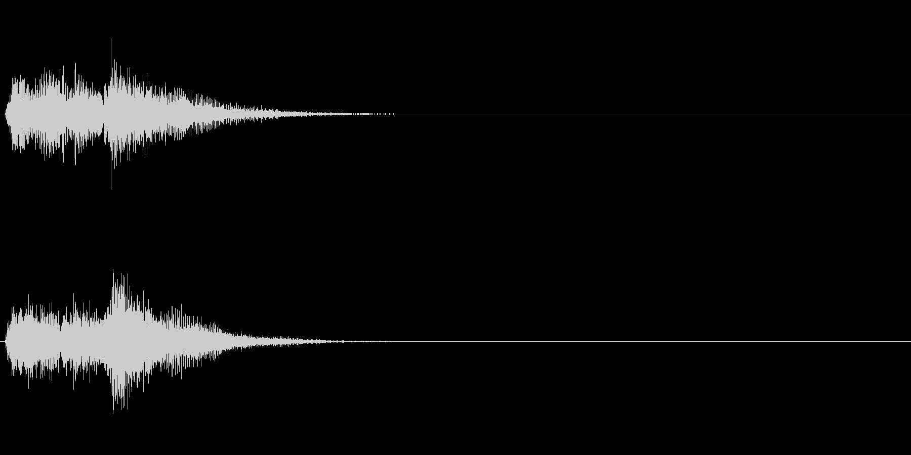 お茶目コミカルオケヒット。ファンファーレの未再生の波形
