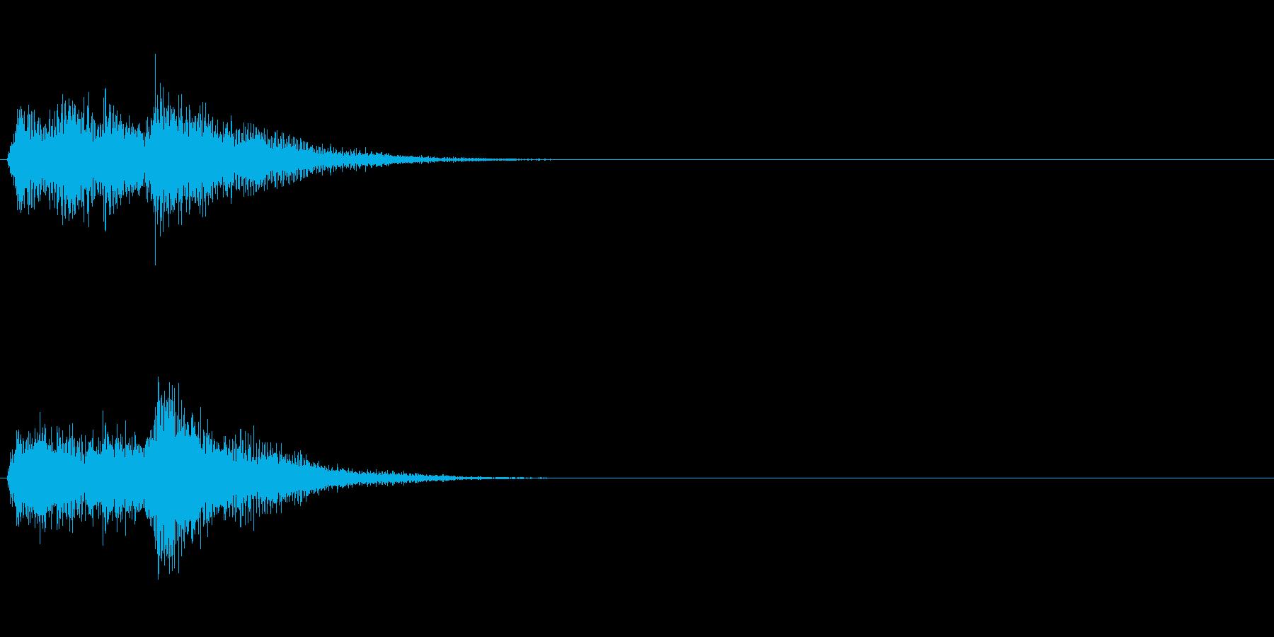 お茶目コミカルオケヒット。ファンファーレの再生済みの波形