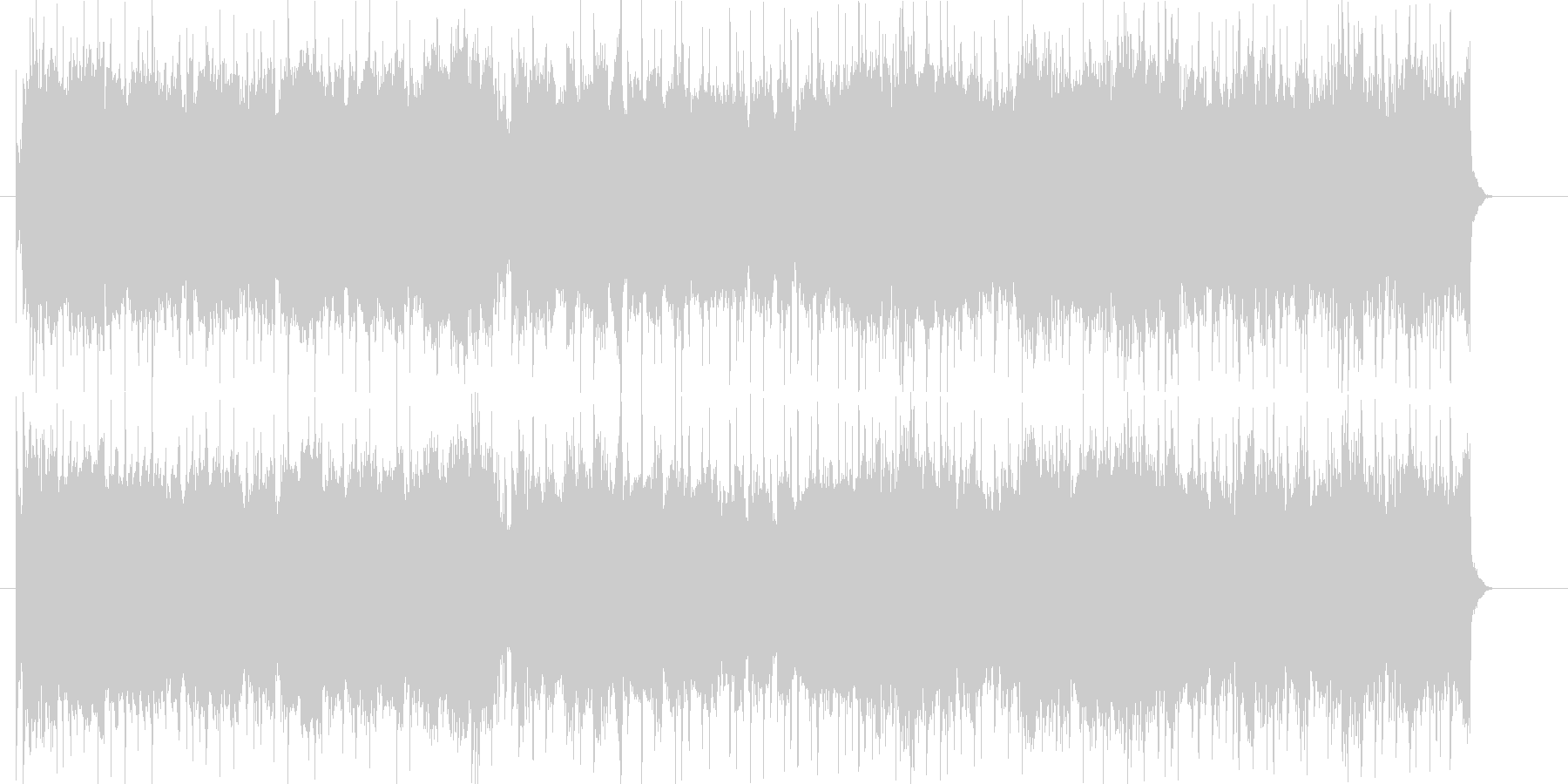 ドライブをイメージした躍動的なロックの未再生の波形