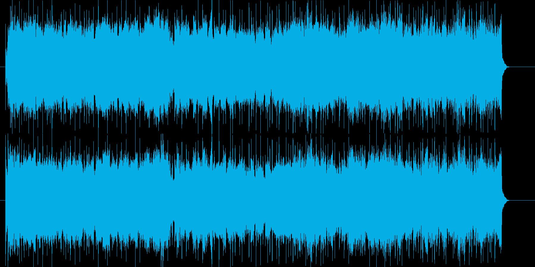 ドライブをイメージした躍動的なロックの再生済みの波形
