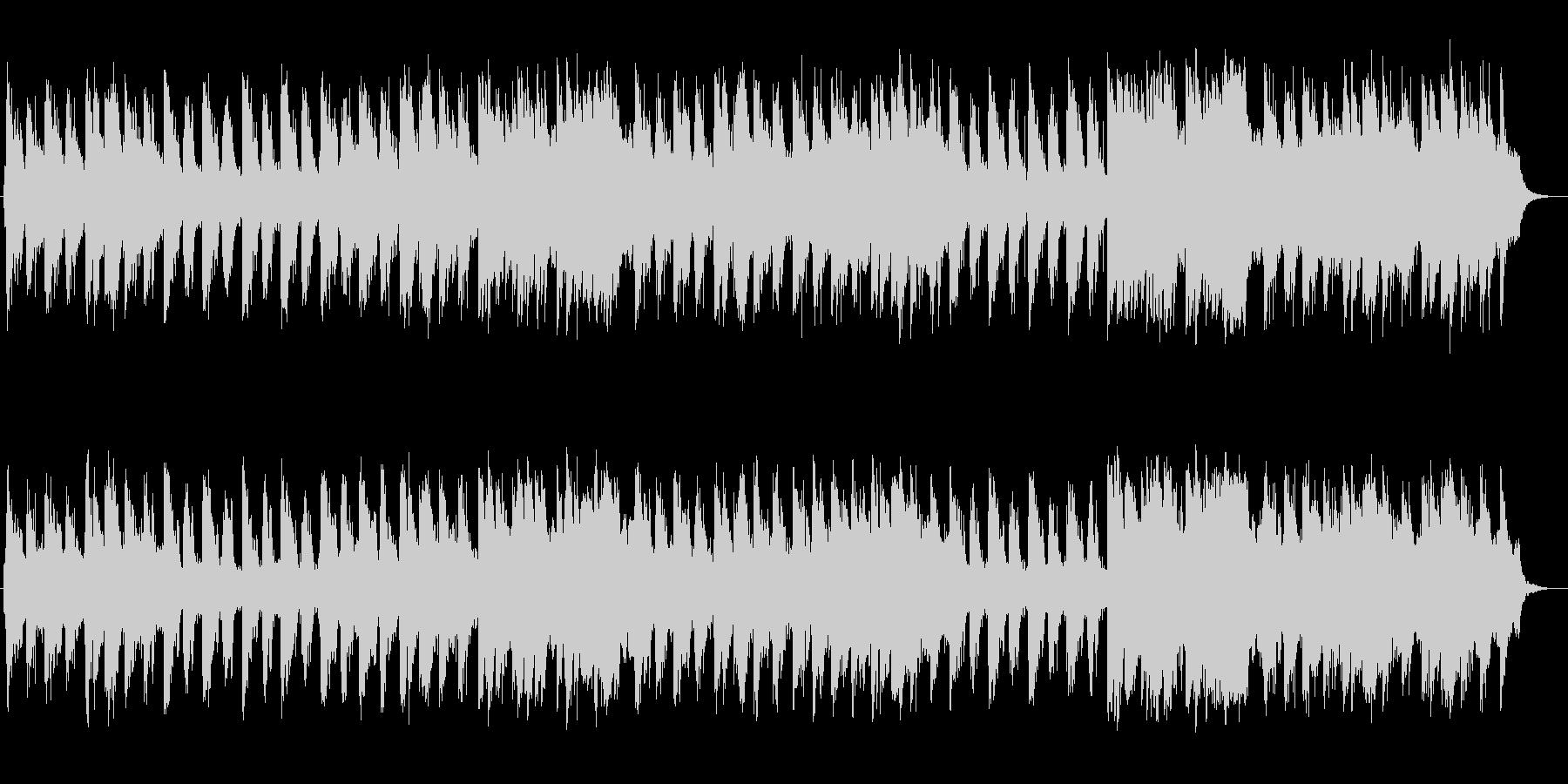 優しく爽やかなシンセサイザーサウンドの未再生の波形
