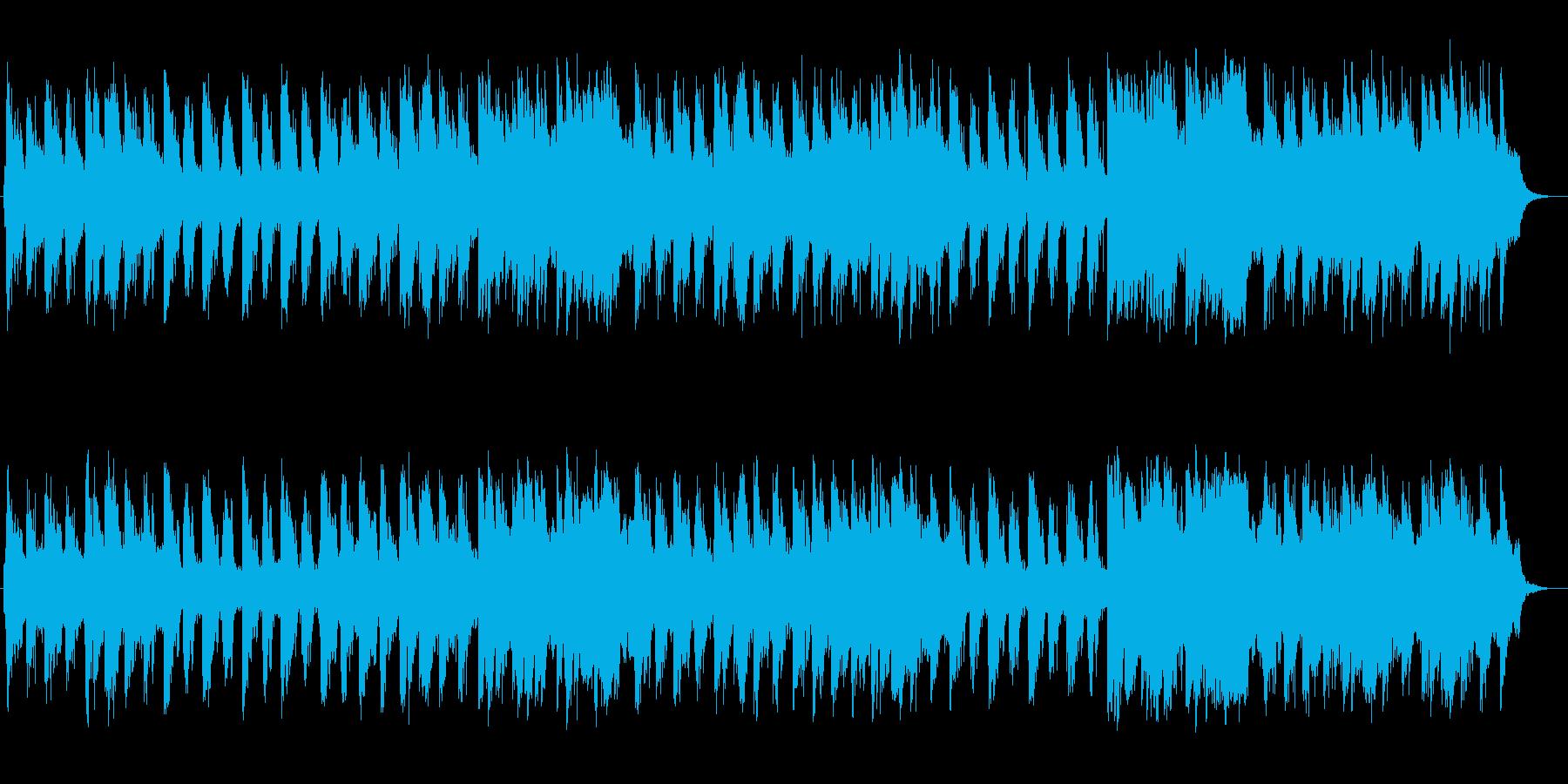 優しく爽やかなシンセサイザーサウンドの再生済みの波形