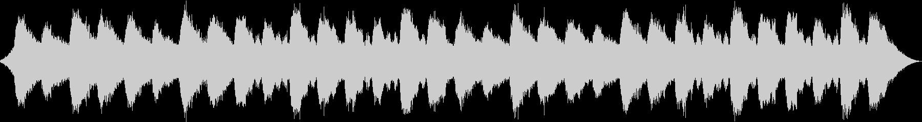水の音が放つ1/fゆらぎの未再生の波形