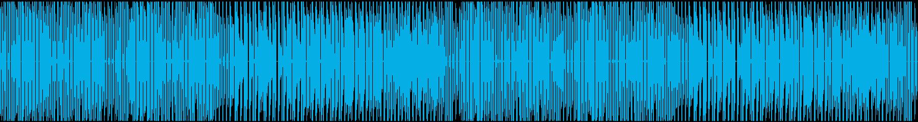 ファミコン風どこか和風な勢いのあるBGMの再生済みの波形