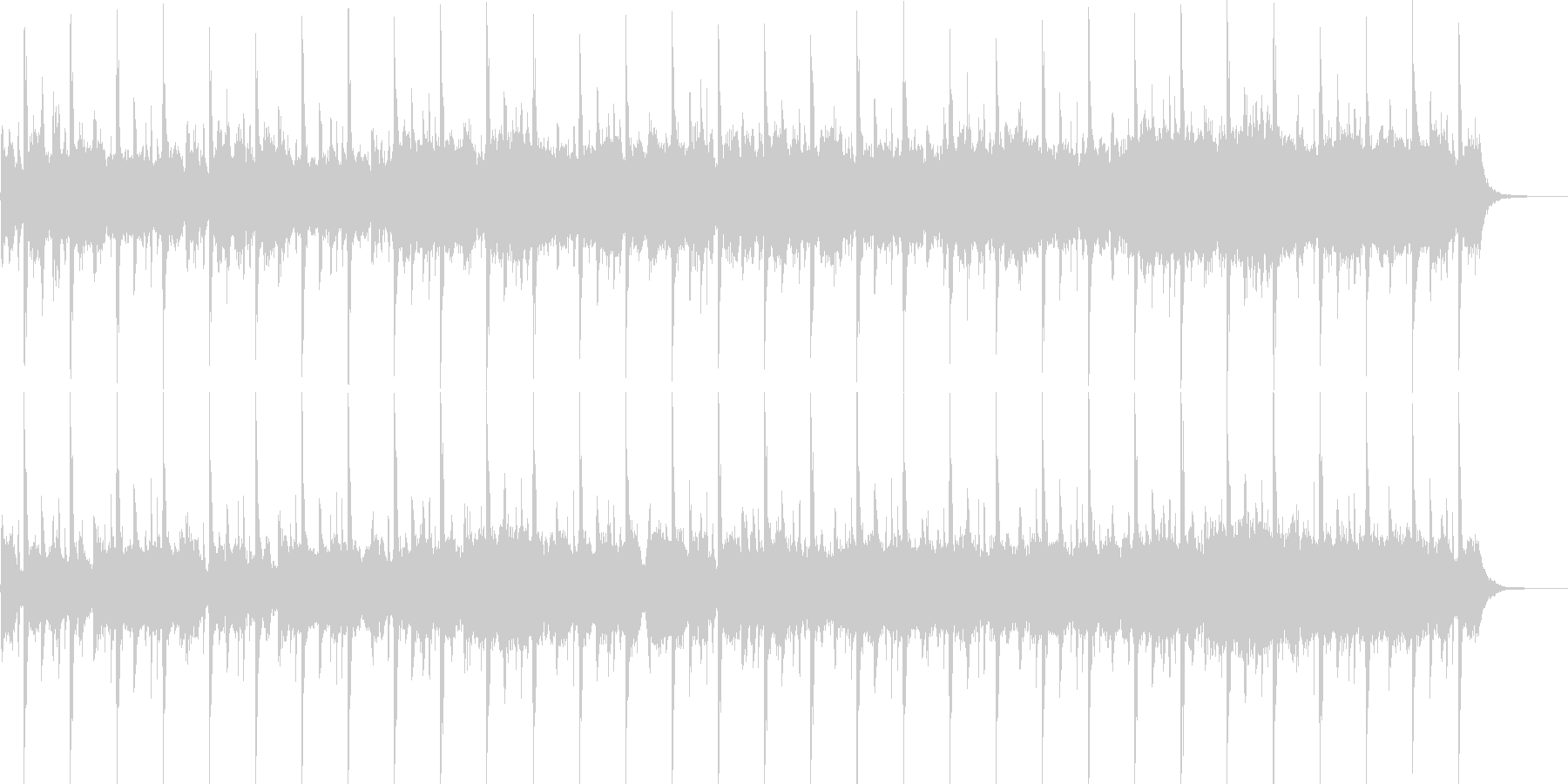 ストリングス主体の厳格な雰囲気の未再生の波形