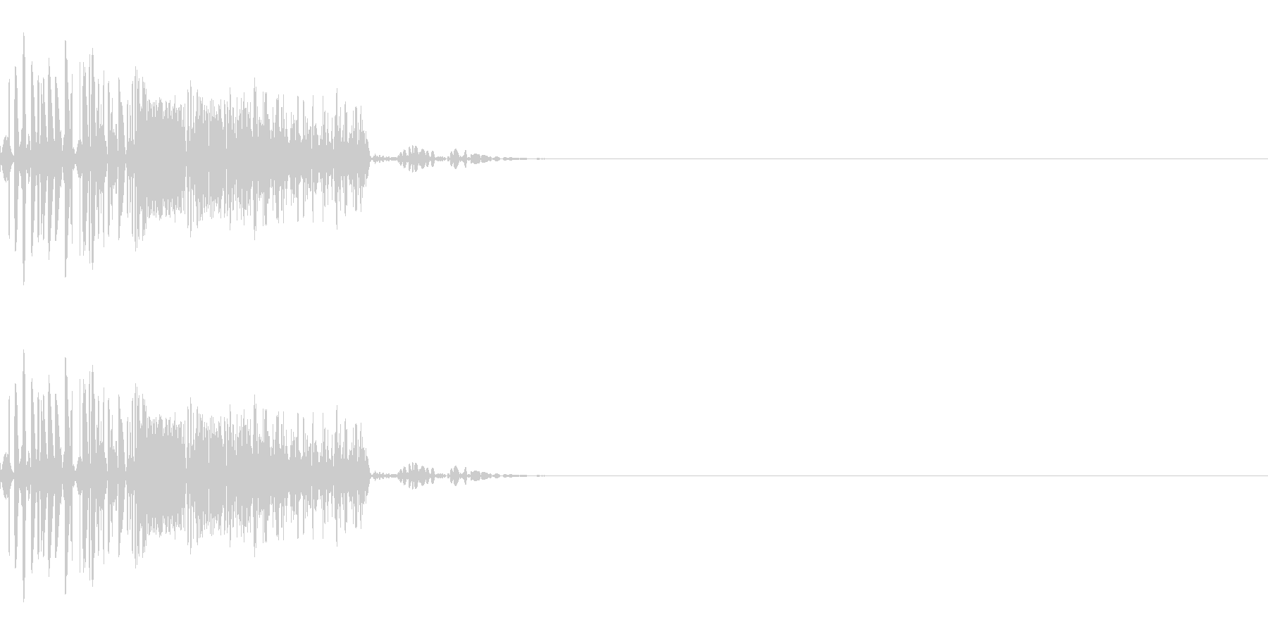 バシッ(打撃/キック/中攻撃)の未再生の波形