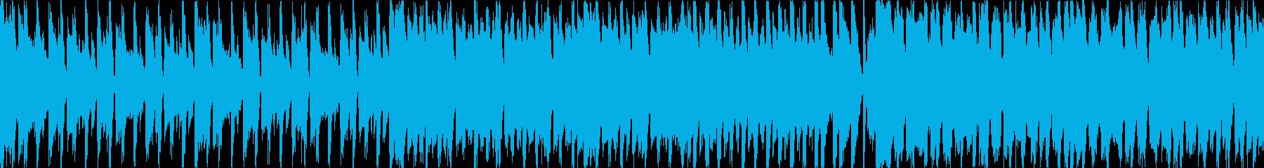 歌物っぽいノリ良い四つ打ちポップスの再生済みの波形