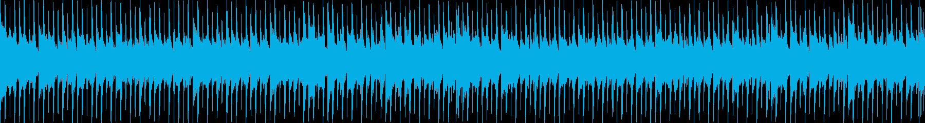 CM等、明るいアップテンポ爽やかループcの再生済みの波形