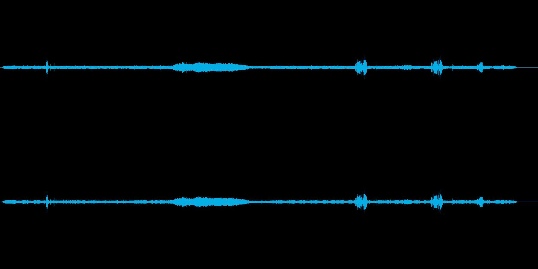 デイバード、セミ、ツリーブリーズの再生済みの波形