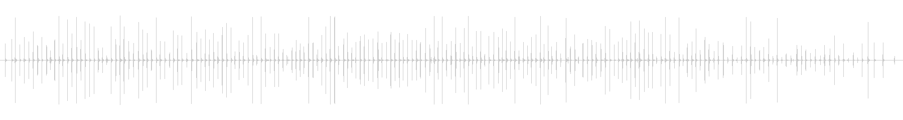 足音 男/歩く2下駄+コンクリートの未再生の波形