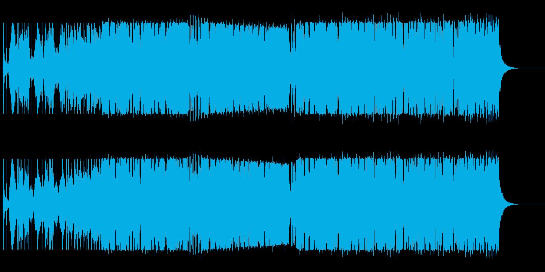 渋い変則ビートの再生済みの波形