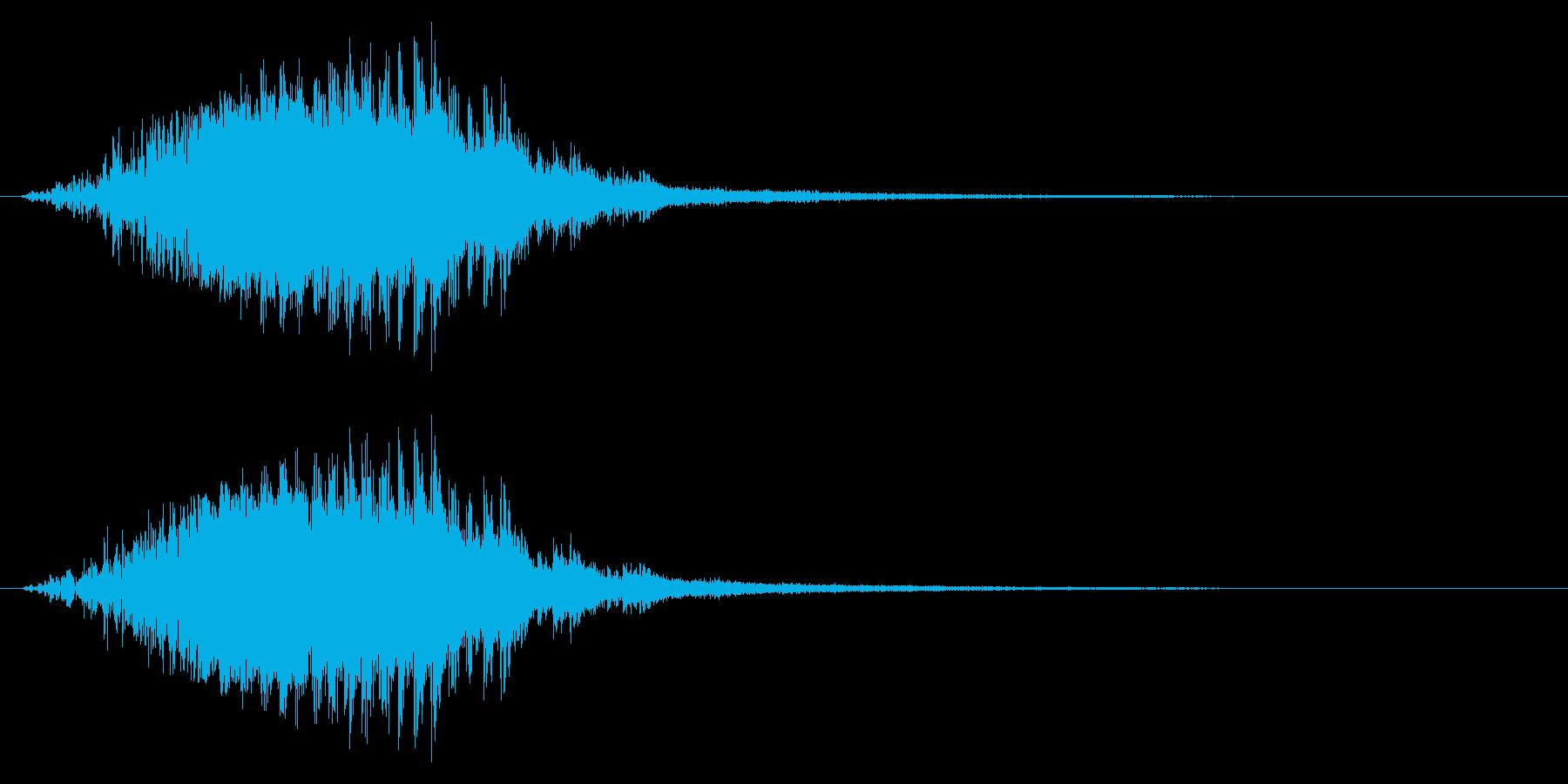 場面転換/星/ピューン/ポップ/かわいいの再生済みの波形