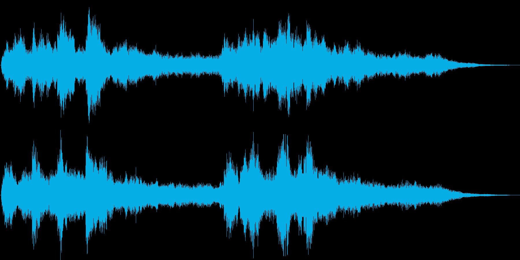 琴やシンセを使った和風なジングルの再生済みの波形