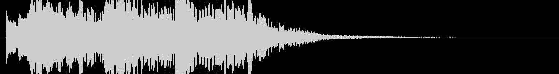 ピアノによる壮大でファンタジーなジングルの未再生の波形