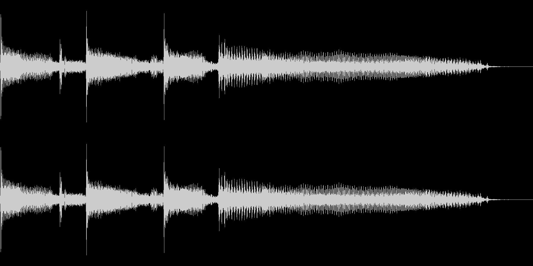 スラップベースの効果音用素材です。の未再生の波形