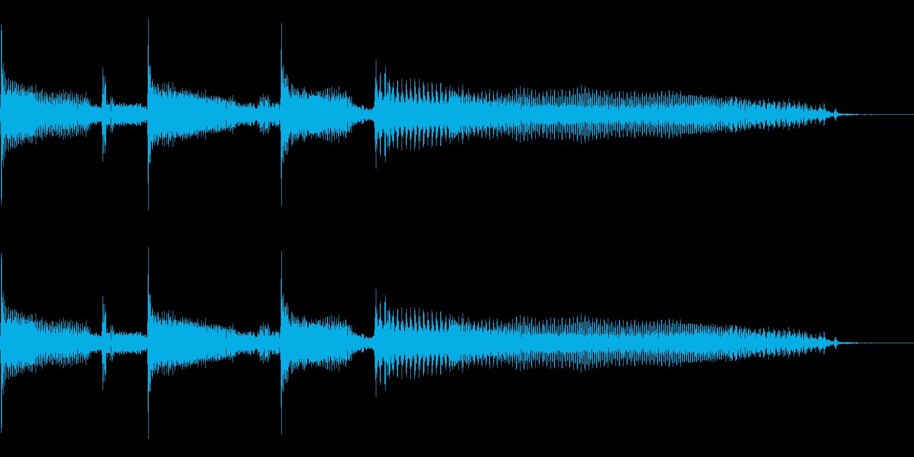 スラップベースの効果音用素材です。の再生済みの波形