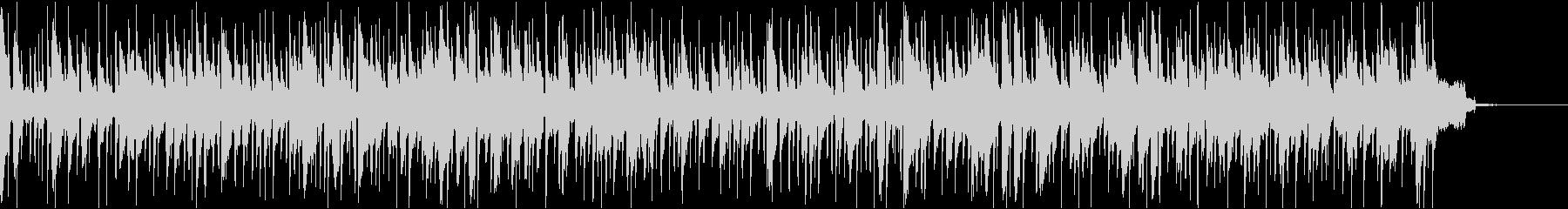 ゆったりとしたボサノヴァの未再生の波形