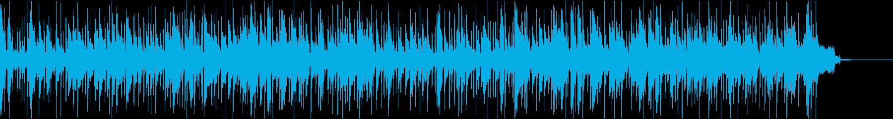 ゆったりとしたボサノヴァの再生済みの波形