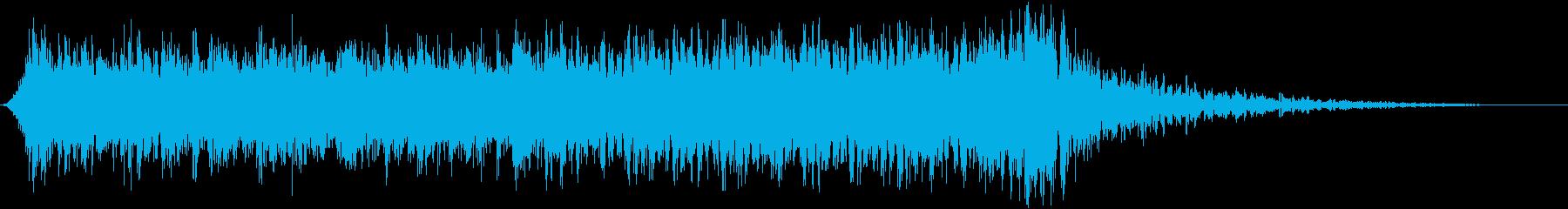 ヒロイックなエピックロックサウンドロゴの再生済みの波形