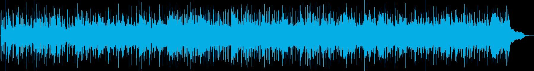 夏の終わりをイメージしたフォークロックの再生済みの波形
