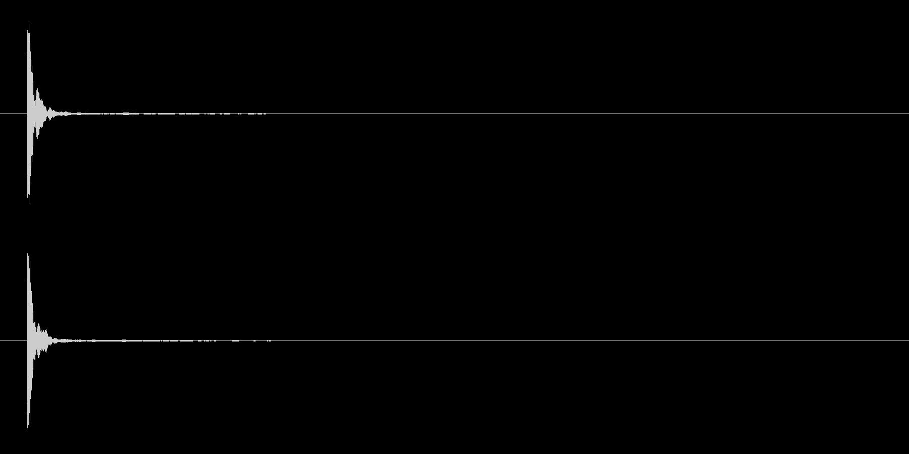 「ポン」木魚(もくぎょ)の単発音+FXの未再生の波形