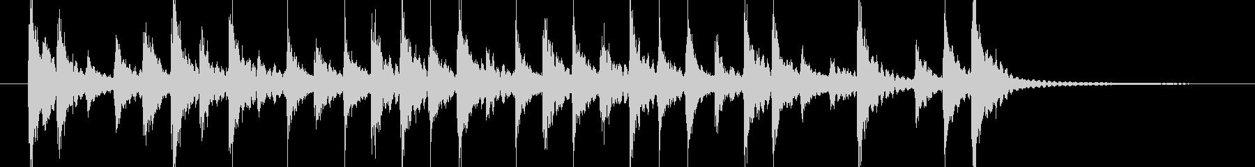 軽い転換や入場 和風三味線太鼓の未再生の波形