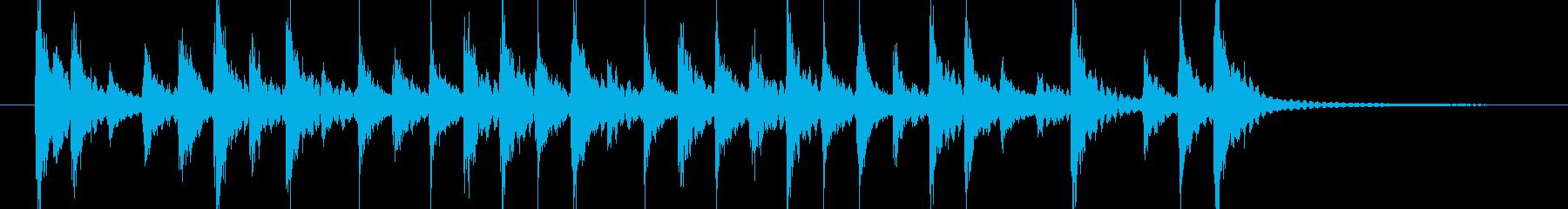 軽い転換や入場 和風三味線太鼓の再生済みの波形