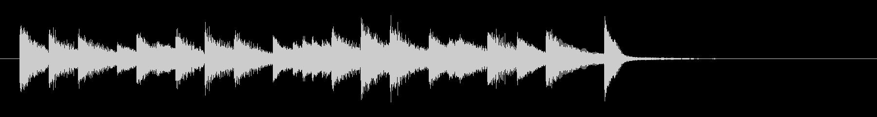 エネルギッシュなピアノジングルの未再生の波形