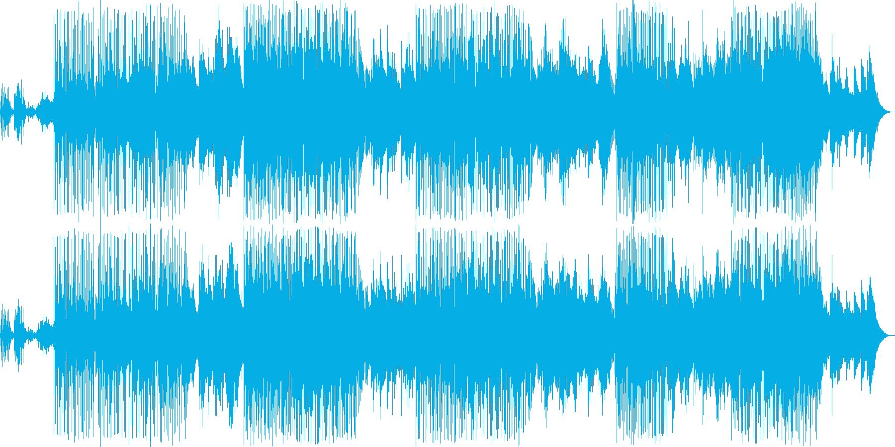 動画 アクション 静か 楽しげ a...の再生済みの波形