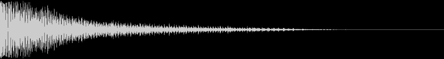 和太鼓ドドン(ヴィブラスラップも同時に)の未再生の波形