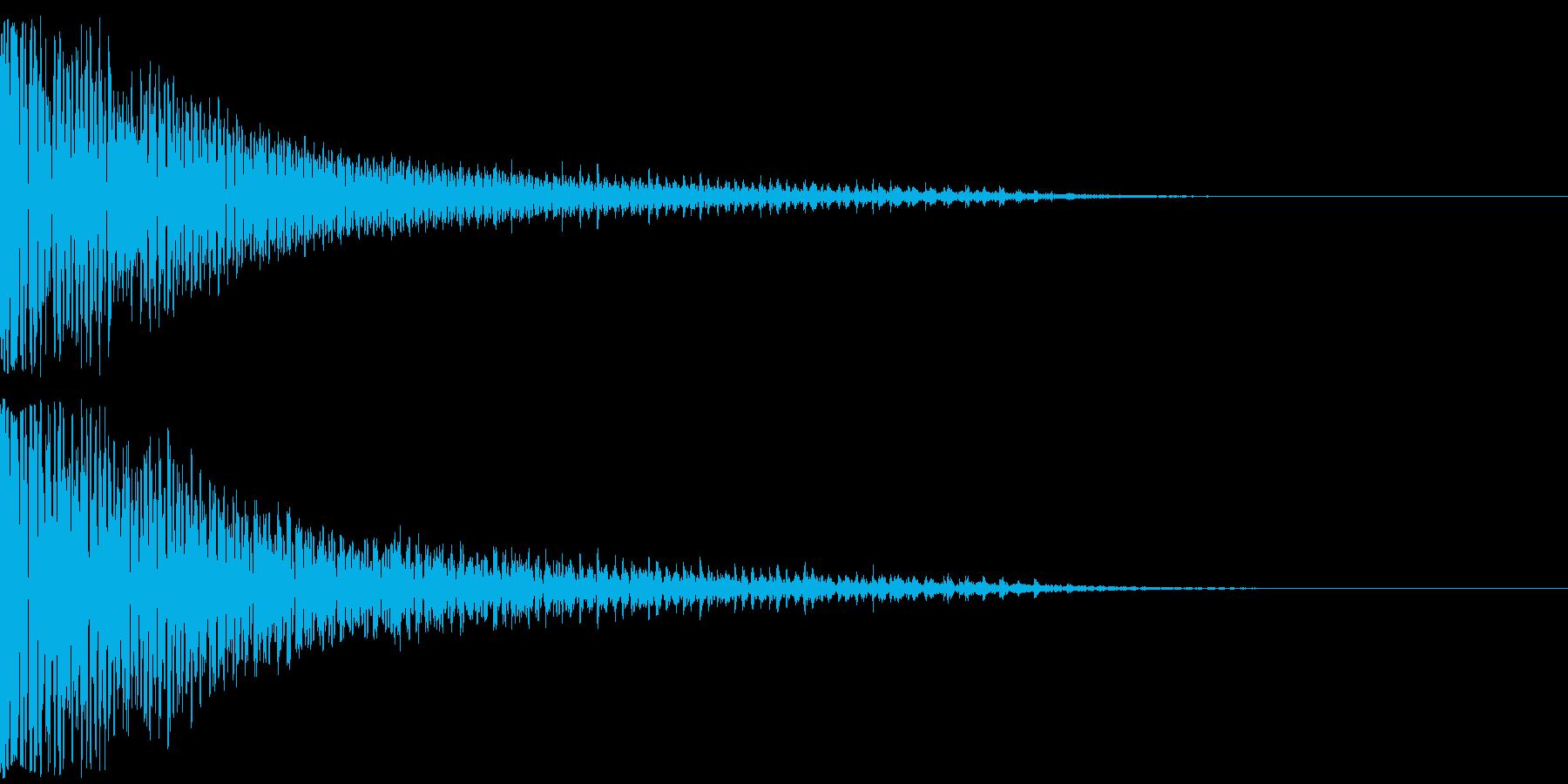 和太鼓ドドン(ヴィブラスラップも同時に)の再生済みの波形