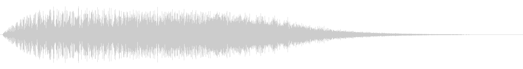 ギュイーン(ビブラフォン系の音)の未再生の波形