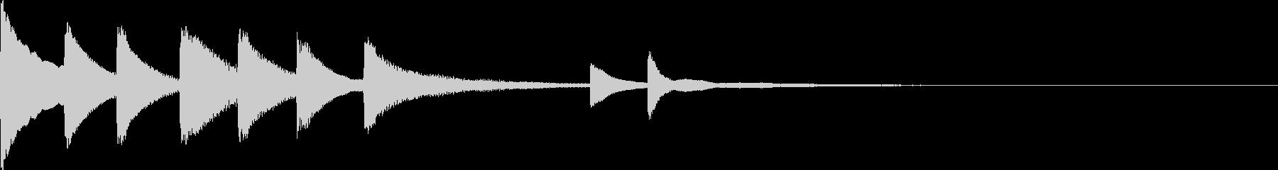 シンプルで切ないピアノのジングルの未再生の波形