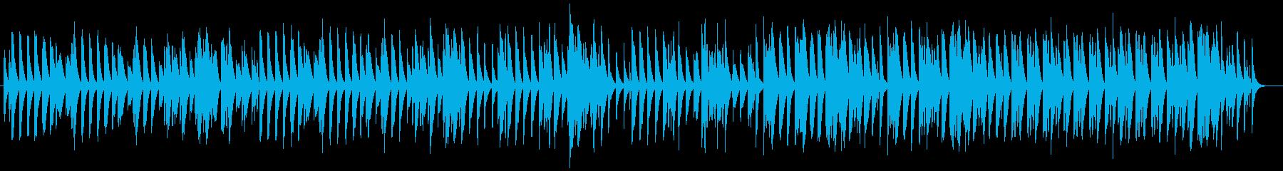 可愛らしい軽快な曲です。の再生済みの波形