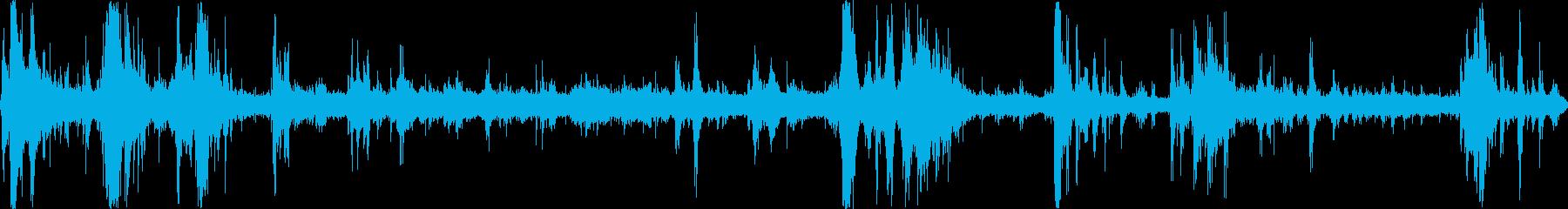 雷雨(環境音)の再生済みの波形