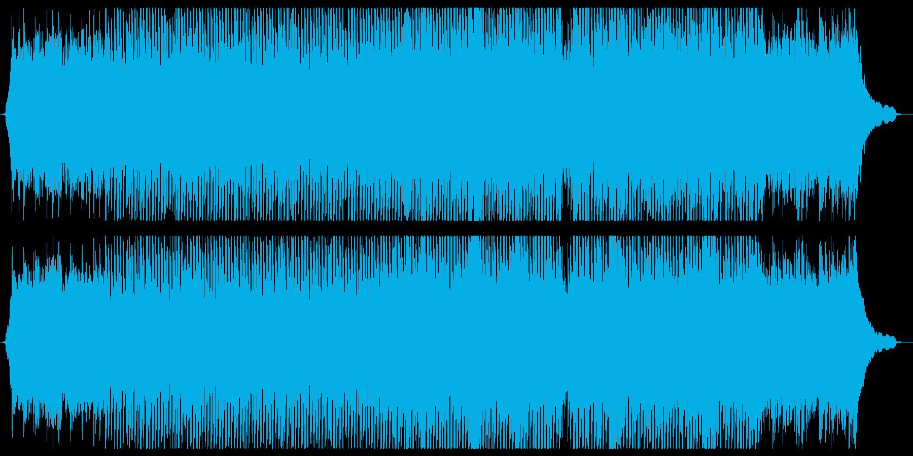 開放的でさわやかなエレキギターインストの再生済みの波形