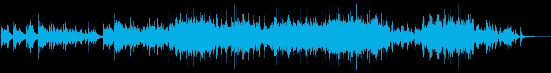 おしゃれでゆったりしたピアノ音楽の再生済みの波形